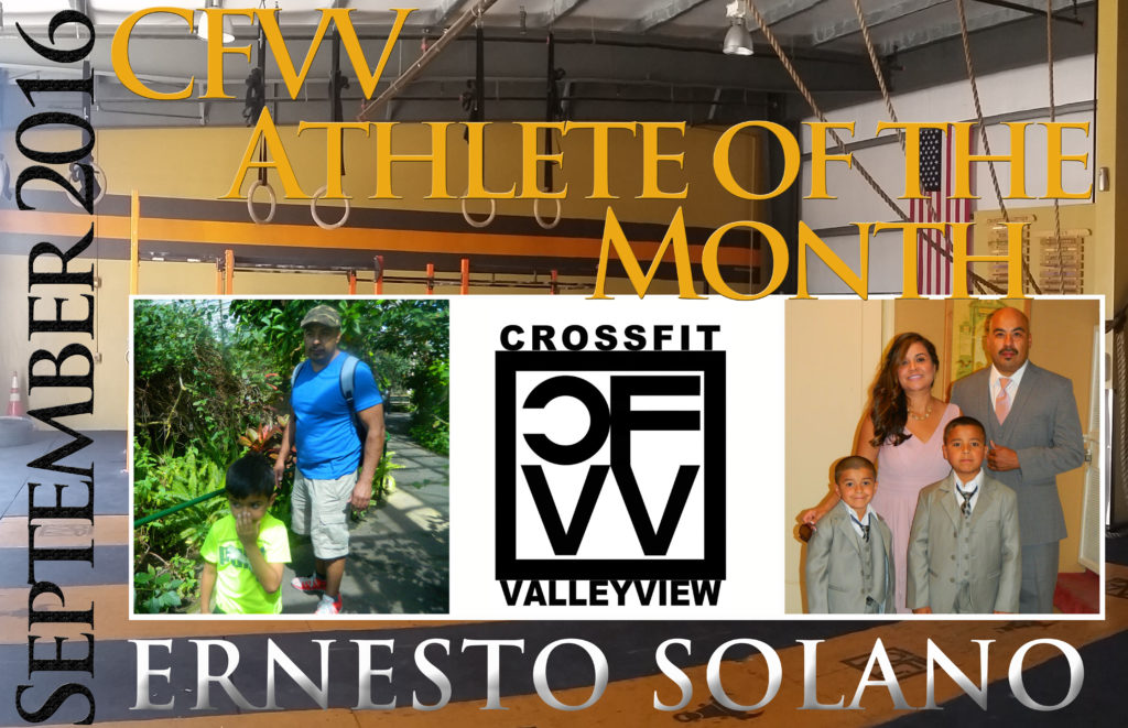 Athlete of the Month CFVV ERNESTO