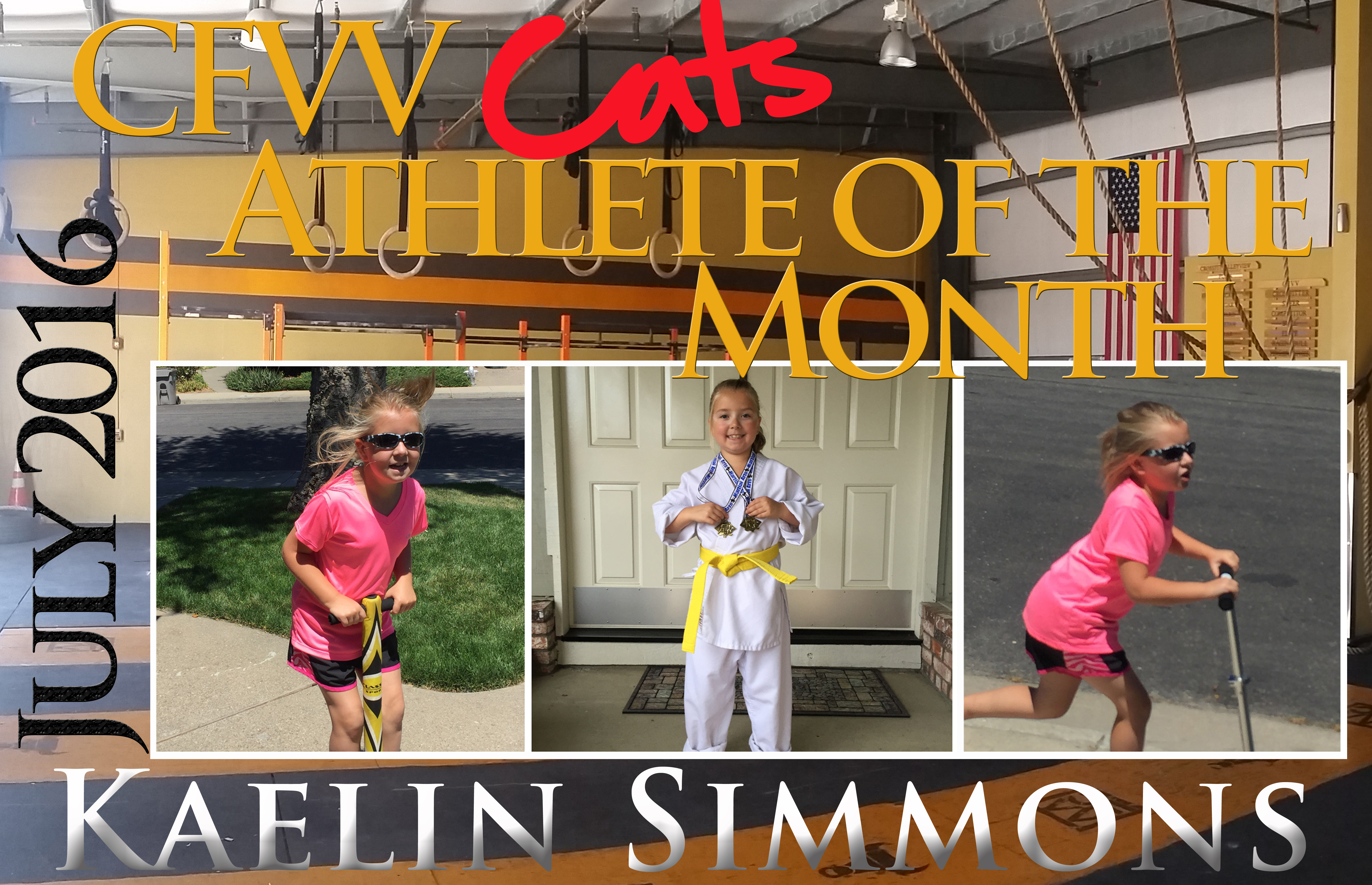 Athlete of the Month CFVV Kaelin