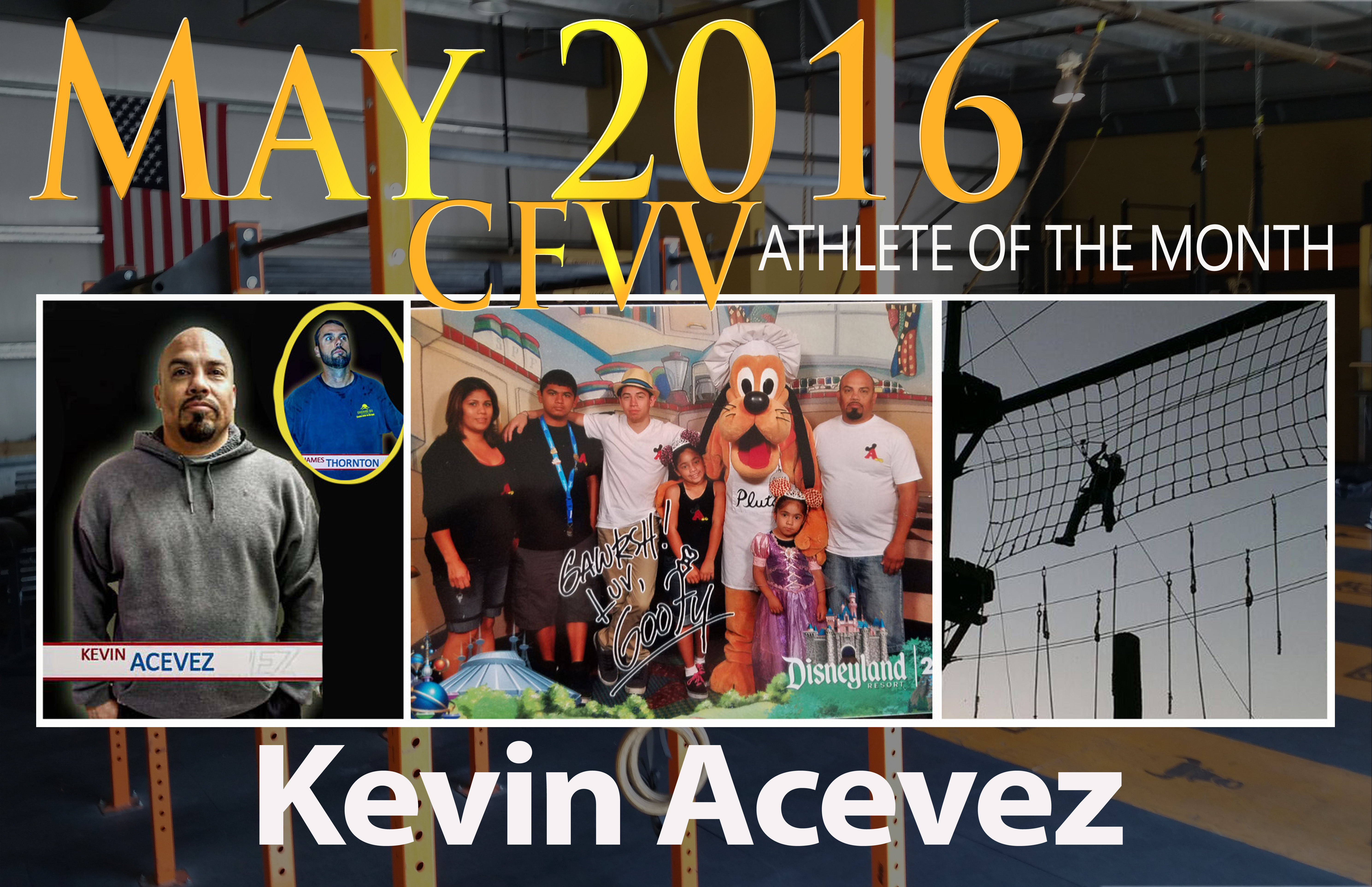 Athlete of the Month Widget kevin